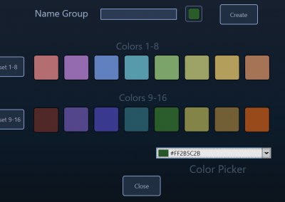 Groups Color Panel